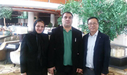 We signed a contract with Sadid company from Iran about 1422mm steel pipe anti corrosion equipment o